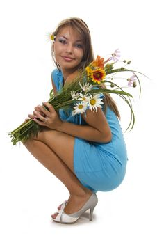 Free Woman And Flowers Stock Photos - 23023573