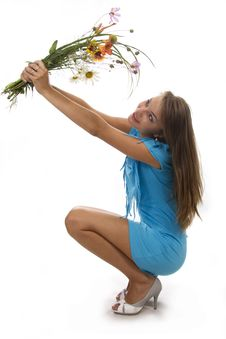 Free Woman And Flowers Stock Photos - 23023603