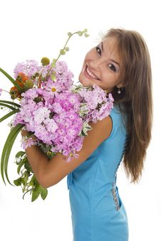 Free Woman And Flowers Stock Photos - 23023663