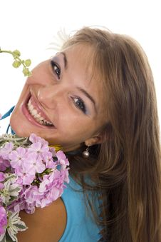 Free Woman And Flowers Royalty Free Stock Photography - 23023757