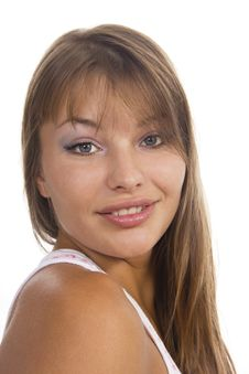 Free Beautiful Woman Smiles Royalty Free Stock Photography - 23024517