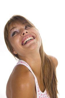 Free Beautiful Woman Smiles Royalty Free Stock Photo - 23024565