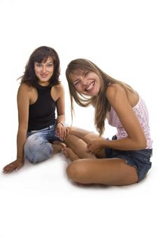 Free Two Young Friend Girl Happiness Stock Photo - 23025090