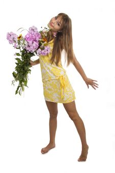 Free Woman And Flowers Stock Photo - 23025130