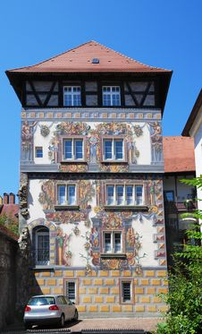 German House With Frescos. Royalty Free Stock Photos