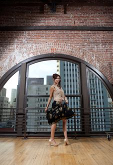 Free Pretty Asian Woman Dancing Stock Images - 23028334