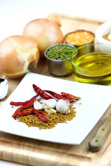 Free Spice Ingredients Stock Photo - 23029070