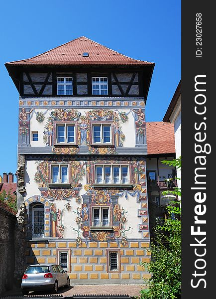 German house with frescos.