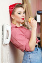 Free Young Woman With A Pin-up Look Royalty Free Stock Photos - 23035338