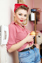Free Young Woman With A Pin-up Look Stock Photo - 23035400