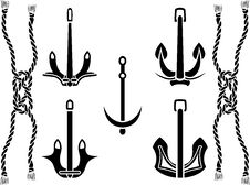 Free Anchor Set Royalty Free Stock Image - 23030196