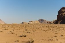 Free View Of The Desert In The Wadi Rum Stock Photography - 23032172