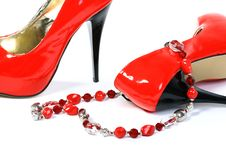 Free Red Shoes On A White Background Royalty Free Stock Photos - 23032738