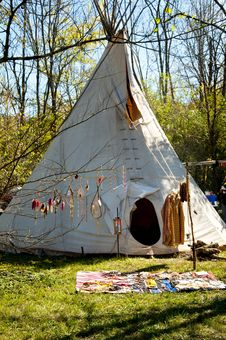 Free A Teepee Being Used For Shelter Stock Images - 23034354
