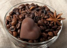 Free Heart Of Chocolate Stock Images - 23034834