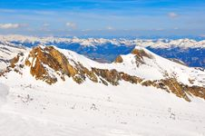 Free Austrian Alps Ski Slope Landscape Stock Photo - 23035350