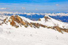 Free Austrian Alps Ski Slope Landscape Stock Photo - 23035350
