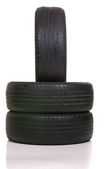 Free Worn Out Tires Royalty Free Stock Photo - 23035885