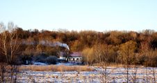 Free House In The Winter Forest Stock Image - 23036071