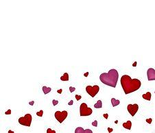 Free Hearts Background Stock Photo - 23036650