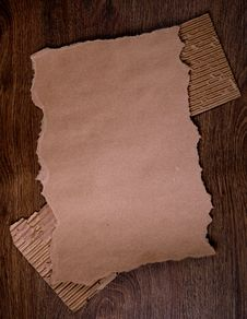 Free Old Paper On The Wood  Background Royalty Free Stock Photos - 23038338