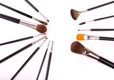 Free Professional Make Up And Powder Brushes Stock Images - 23039394