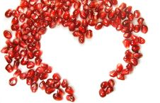 Free Heart Of The Garnet Grains Stock Photos - 23042963