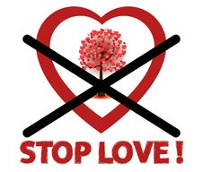 Free Stop Love Sign Royalty Free Stock Photos - 23043668