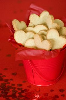 Valentines Heart Cookies Royalty Free Stock Photography