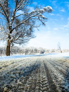 Free Winter Road Stock Photos - 23044303