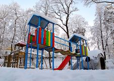 Free Winter Playground Stock Photography - 23044392