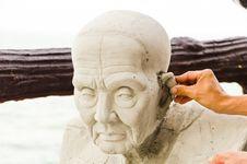 Free Making Buddha Statue Royalty Free Stock Photo - 23045765