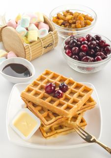 Free Waffles Royalty Free Stock Photos - 23046398