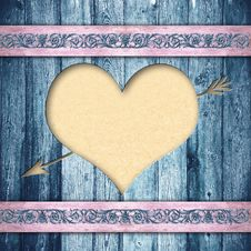 Free Wooden Boards With Heart Stock Image - 23047341
