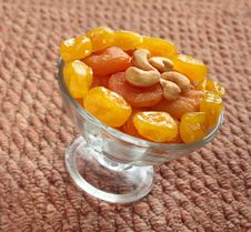 Free Dried Apricots Royalty Free Stock Photography - 23047627