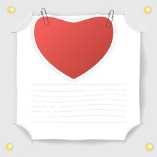 Free Red Heart  Paper And  White Sheet Of Paper Stock Image - 23048481
