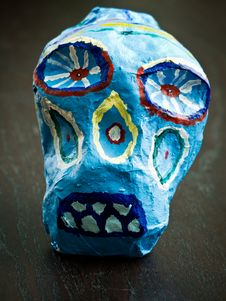 Free Day Of The Dead Skull Royalty Free Stock Image - 23049036