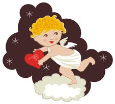 Free Cute Cupid Royalty Free Stock Photos - 23050058