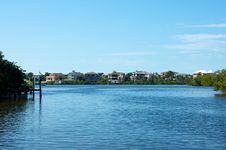 Free Looking Out Across Bay To Florida Homes Stock Images - 23050074