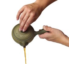 Tea Being Poured Royalty Free Stock Photography