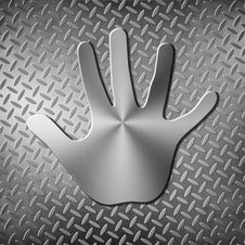 Free Metal Handprint Stock Image - 23055411
