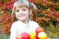Free Little Girl With Fresh Vegetables In Garden Royalty Free Stock Photos - 23063798