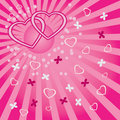 Free Background With Hearts And Butterflies. Royalty Free Stock Photography - 23069857