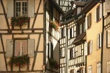 Free Flowers And Windows In The City Of Colmar France Royalty Free Stock Photography - 23060367