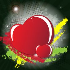 Free Valentine S Day Card With Hearts Royalty Free Stock Image - 23060416