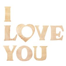 Free Words I Love You Made Of Wooden Textured Letters Royalty Free Stock Photography - 23060417