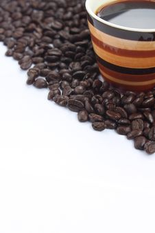 Free Coffee Cup And Coffee Bean Stock Photography - 23061132