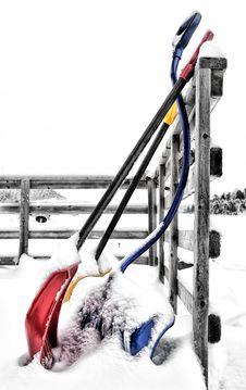 Free Shovel Time Royalty Free Stock Photography - 23062117