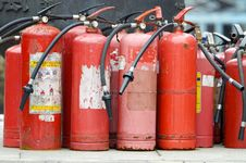 Free Fire Extinguishers Royalty Free Stock Photo - 23063535