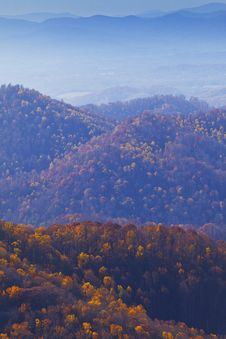 Free Appalachian Mountains At Sunset And Blue Mist Stock Image - 23063681